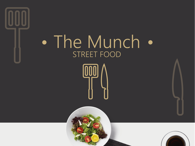 The Munch Logo Design icon flat colors minimal vector design illustration