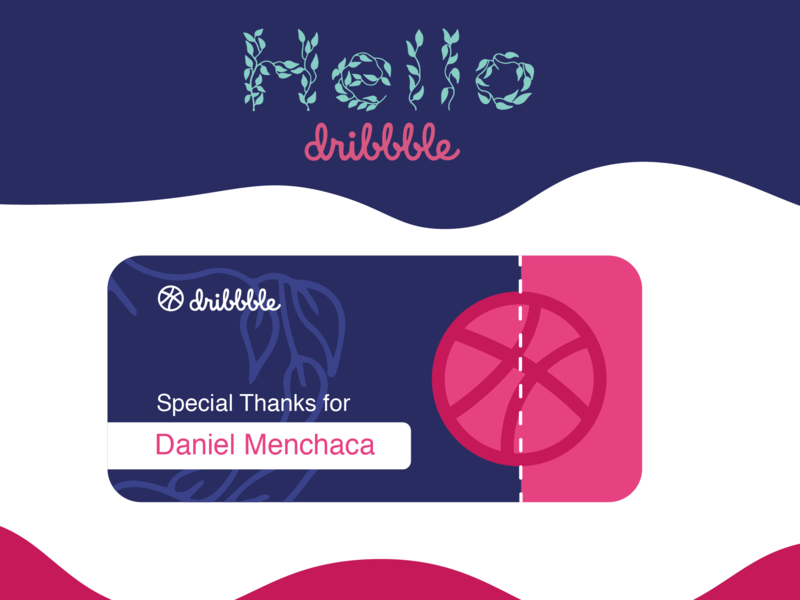 Hello Dribbble minimal type branding typography logo vector design illustration