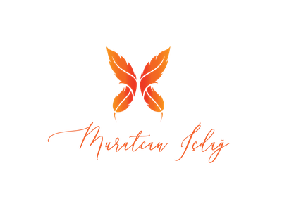 Logo Design - Muratcan İcdag icon lettering illustration minimal branding feathers feather logotype mylogo logodesign colors logo typography vector design