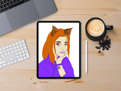 Half women Half Cat design vector illustration women in illustration