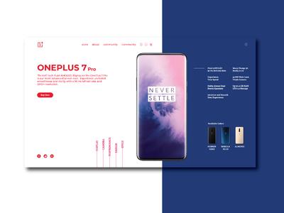 Oneplus 7 pro - Landing UI