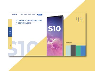 Samsung Galaxy s10 UI Design