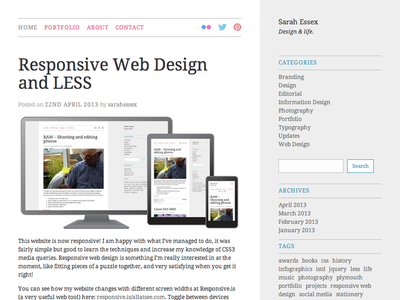 Responsive Website responsive website blog portfolio web layouts