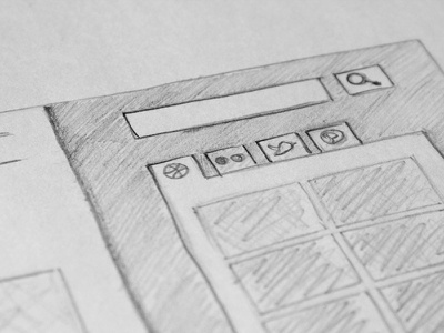 Social Feeds Sketch social media twitter pinterest dribbble flickr feeds web layouts sketches pencil plans layouts web design