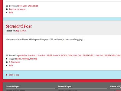 WordPress Theme wordpress blog css layout icons web browser