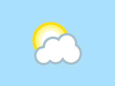 Sun Icon cloud logo sun sky icon