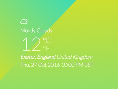 Mostly Cloudy css3 typography css icon weather