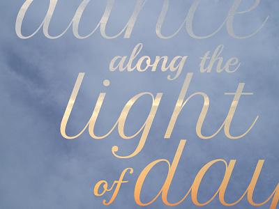 Concept concept typography light songs lyrics photography