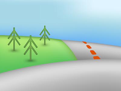 Gradient Meshes gradient mesh gradients illustrator vector landscape
