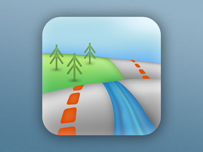 Map icon continued landscape water maps icons apps map