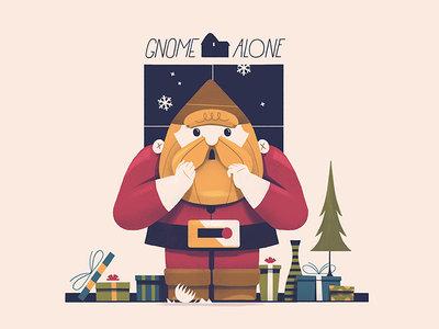 gnomeAlone™ xmas bearded colorful illustration characters what was i thinking terrible puns bad puns puns