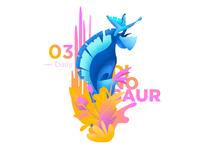 Daily illustration challenge #03 — Dinosaur