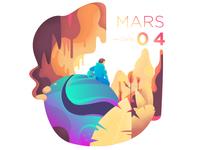 Daily illustration challenge #04 — Сrash on Mars