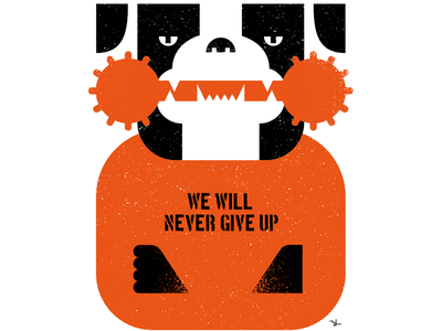 We will never give up illustration