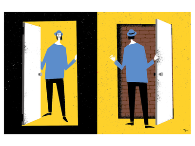Where is the exit? illustration