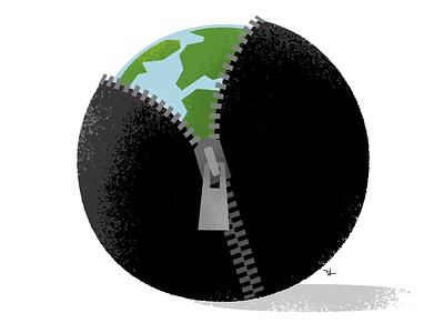 The beginning of the new world illustration