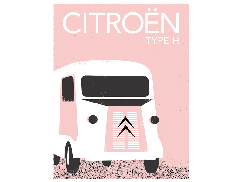 CITROEN  TYPE-H design illustration