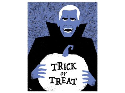 Trick or treat design illustration