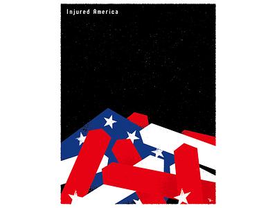 Injured America graphic design illustration