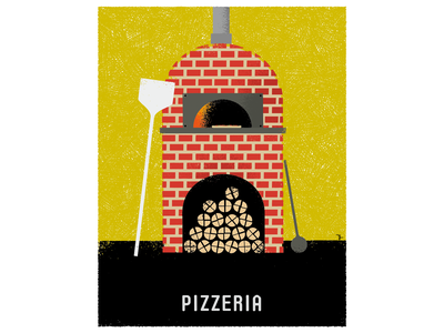 Pizzeria graphic design illustration