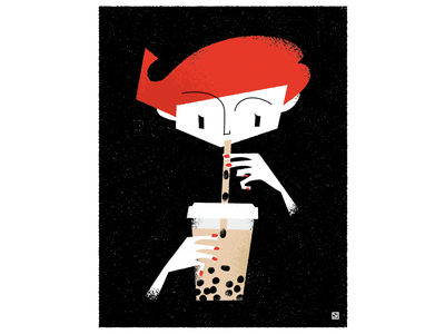 Bubble tea illustration
