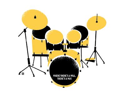 Drum kit graphic design illustration