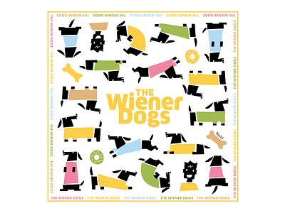 The Wiener Dogs graphic design illustration