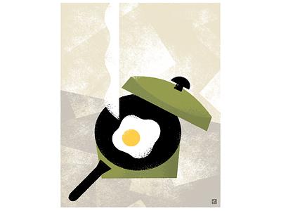 Sunny-side up graphic design illustration