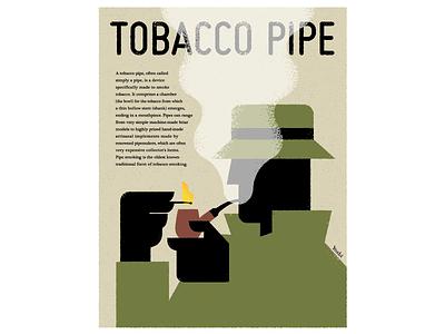 Tobacco pipe graphic design illustration
