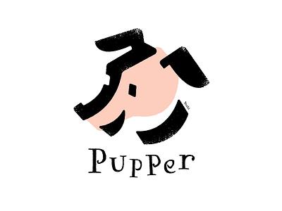 Pupper graphic design illustration