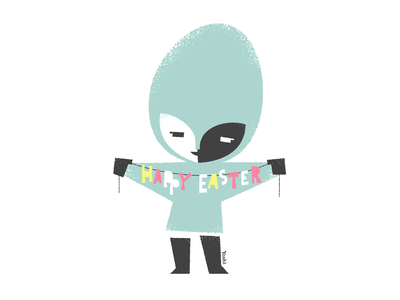 Happy Easter graphic design illustration