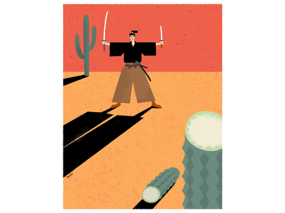 SAMURAI graphic design illustration