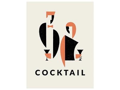 Cocktail graphic design illustration