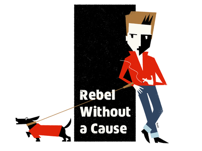 Rebel Without a Cause graphic design illustration