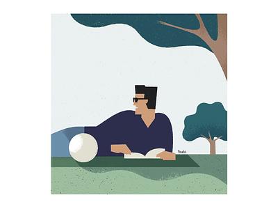 Shade of a tree graphic design illustration