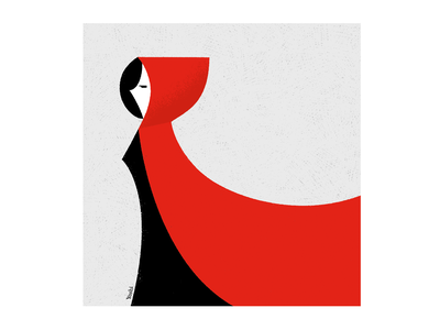 Red Riding Hood graphic design illustration