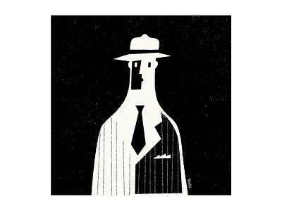 Man wearing panama hat graphic design illustration