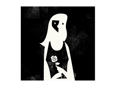 Girl with a rose graphic design illustration
