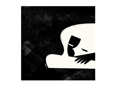 Doze off graphic design illustration