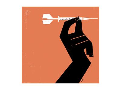 Darts graphic design illustration
