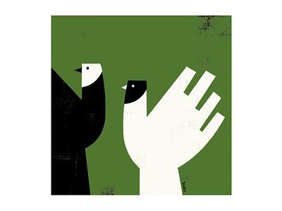 Birds graphic design illustration