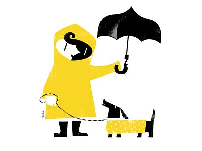 Wet season character design graphic design illustration