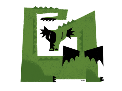Dragon character design graphic design illustration