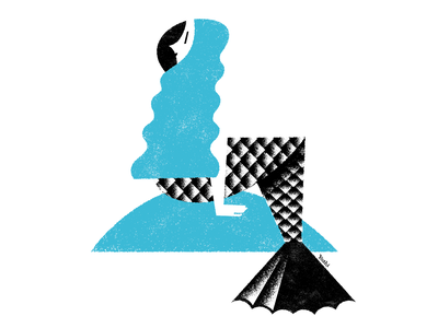Mermaid character design graphic design illustration