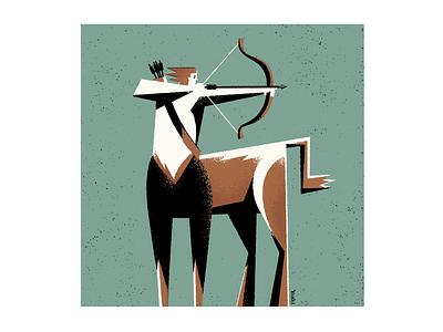 Centaur graphic design illustration