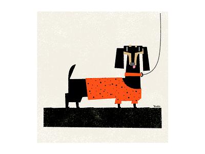 Dachshund graphic design illustration