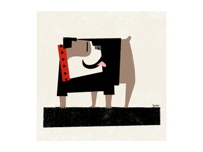 Bulldog graphic design illustration