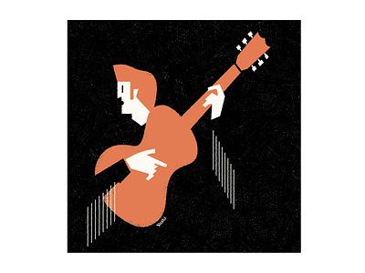 Country music graphic design illustration