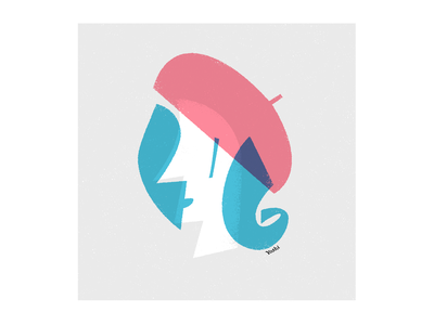 Beret graphic design illustration