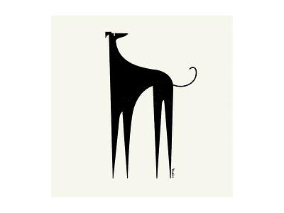 Italian Greyhound graphic design illustration